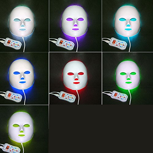 Newkey Advanced 7 Color LED Light Photon Therapy System Facial Skin Care & Beauty Mask by NEWKEY (Image #1)
