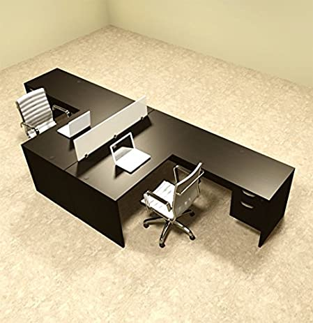 office workstation desks. Two Person L Shaped Divider Office Workstation Desk Set, #OT-SUL-FP40 Desks