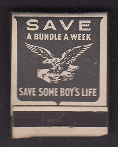 US Victory Waste Paper Campaign Save a Bundle a Week matchbook from The Jumping Frog