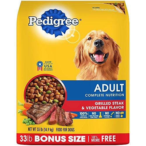 Pedigree Complete Nutrition Adult Dry Dog Food Grilled Steak & Vegetable Flavor, 33 Lb. Bag