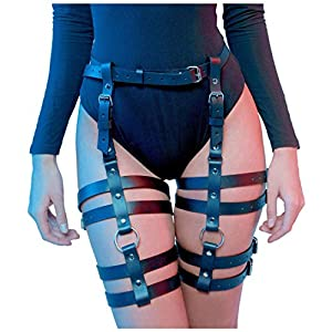 HOMELEX Women's Leg Harness Caged Thigh Holster Garters Harajuku Waist Gothic Rings Belt for Rave Outfits