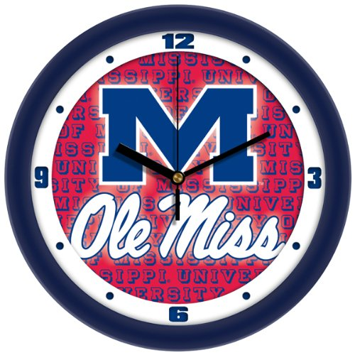 (SunTime NCAA Mississippi Rebels Ole Miss Wall Clock )