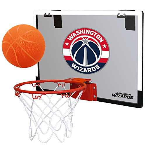 fan products of NBA Washington Wizards Game On Indoor Basketball Hoop & Ball Set, Regular, Red