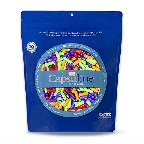 Capsuline FUNCAPS Gelatin Empty Capsules Size 0 1000 Count