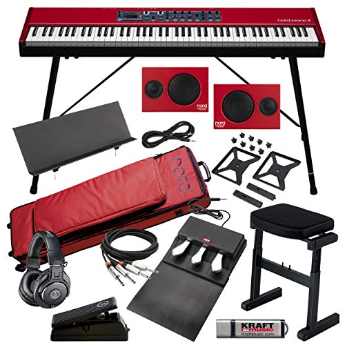 Nord Piano 4 with Nord Piano Monitors, Nord Gig Bag, Nord Stand, Music Rest, Bench, Headphones, Cables and Flash Drive