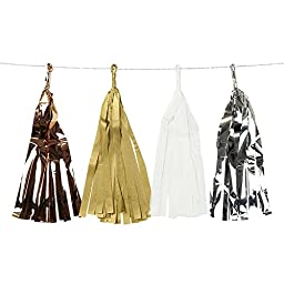 Talking Tables Decadent Decs Hanging Tassel Garland 3m for a General Decoration, Multicolor