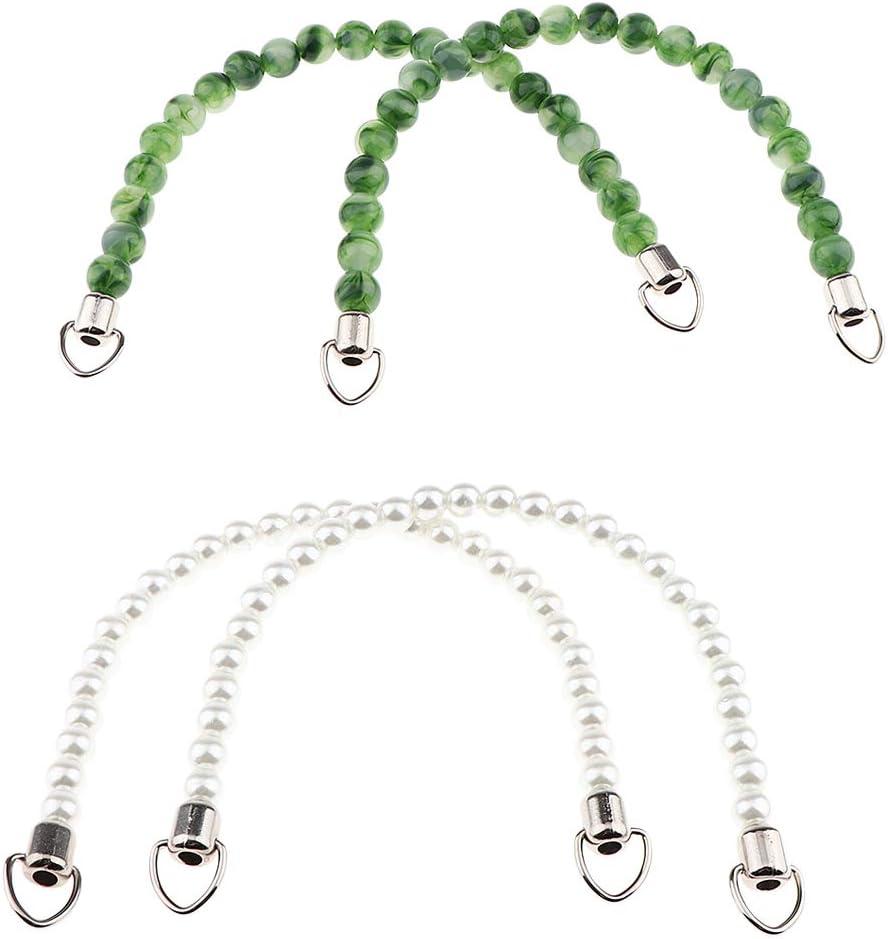 Der Teile Herstellt Taschenriemen Griff F/ür DIY Handzubeh/ör Kette Geldbeutel Sch/öne Perlen sharprepublic Packung Mit 4 Taschenriemen