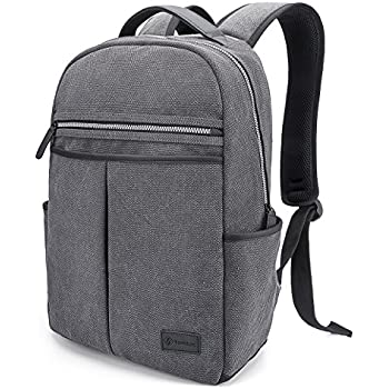 Laptop Backpack, Tomtoc 15 15.6 Inch Canvas Laptop Backpack Rucksack School Bag Travel Backpack Daypack for Working School Hiking Camping