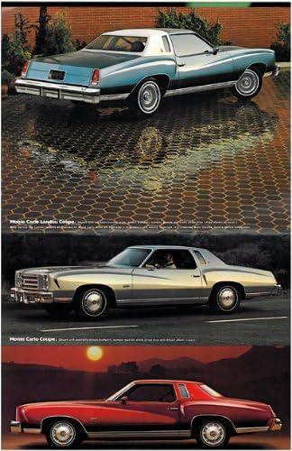 Chevy 1976 Chevrolet Monte Carlo Original Car Dealer Sales Brochure Catalog