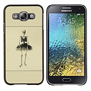 Esqueleto de la bailarina- Metal de aluminio y de plástico duro Caja del teléfono - Negro - Samsung Galaxy E5 / SM-E500