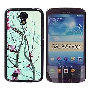 """Pulsar Snap-on Series Teléfono Carcasa Funda Case Caso para Samsung Galaxy Mega 6.3 , Sky Rose Flores de Primavera Naturaleza Ramas"""""""