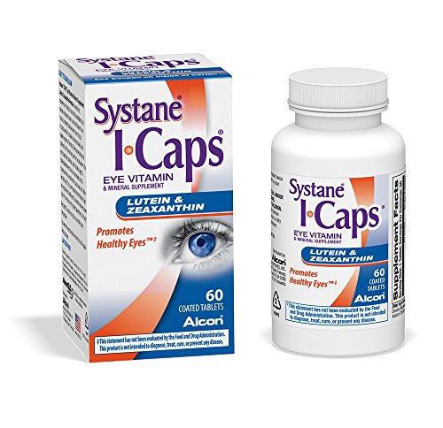 Systane ICaps Eye Vitamin & Mineral Supplement, Lutein & Zeaxanthin Formula, 60 Coated Tablets