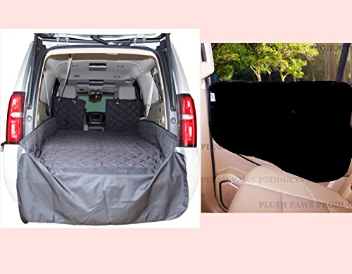 Cargo Liner XL Cargo Liner for Dogs Dog Car Cargo Liner Cover Pet Cargo Liner for SUV Extra Bumper Flap Machine Washable Silicone Backing Durable Quilted Diamond Stitched and Set of Door Covers by Plush Paws