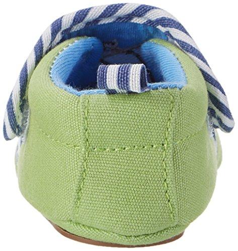 Sterntaler Baby-krabbelschuh - Zapatillas de casa Bebé-Niñas Grün (Sommergrün)