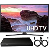 Samsung UN55MU6300 55' 4K Ultra HD Smart LED TV (2017 Model) + 4K Ultra-HD Blu-Ray Player w/ 3D Capability + 2x 6ft High Speed HDMI Cable