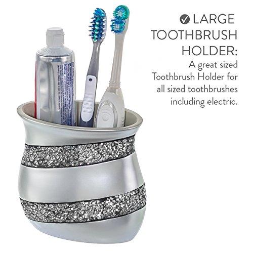 4 Pcs Silver Mosaic Glass Luxury Bathroom Gift Set Soap