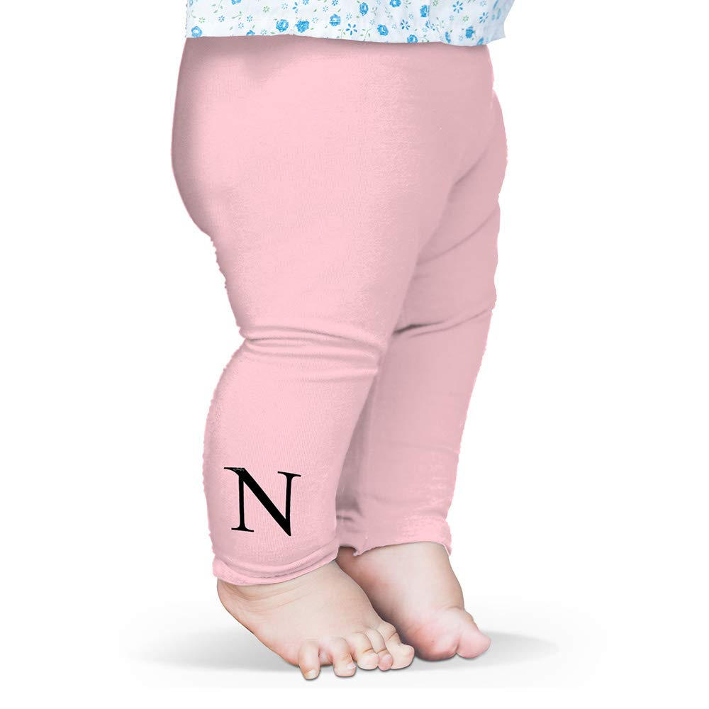 TWISTED ENVY Alphabet Monogram Letter N Baby Funny Leggings