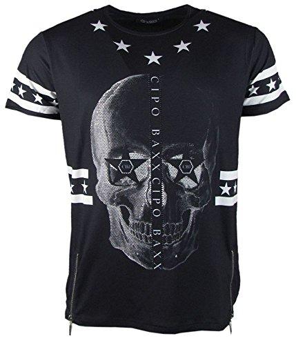 CBJ Shining Skull T-Shirt - schwarz