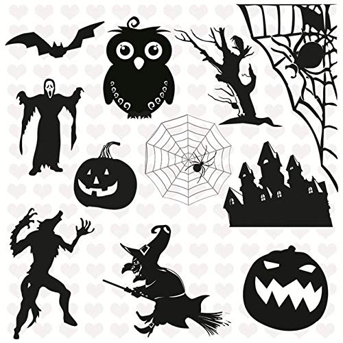 Dalab Halloween Owl Pumpkin Transparent Stamps 1414cm Scrapbook New Embossing DIY Clear Stamps Stencils Album Craft Card - (Color: Clear) -