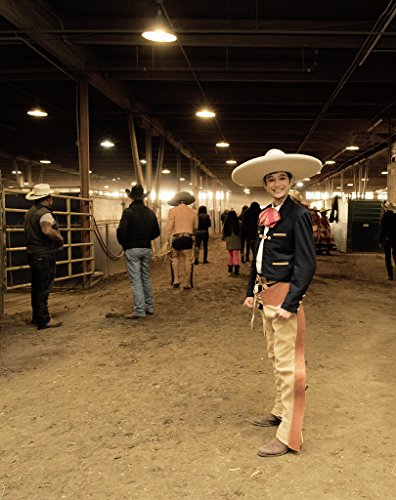 24 x 36 Giclee print of Twelve-year-old charro or Mexican cowboy Nicolas Diaz gets a break between performances at the Mexican Rodeo Extravaganza part of the National Western Stock Show -