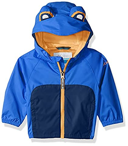 Columbia Baby Kitteribbit Jacket, Super Blue Neon Frog, 6/12