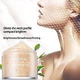 Neck Cream, Neck Firming Moisturizing Whitening Cream, Skin Tightening Cream Useful for Compacting + Brightening Neck Skin and Removing Neck Wrinkles (Orange)