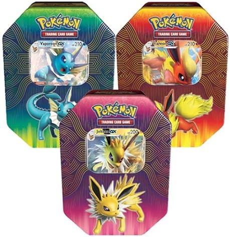 Pokémon 82527 Elemental Power - Juego de 3 latas de vaporeón, Joteon y Flareon-GX: Amazon.es: Juguetes y juegos