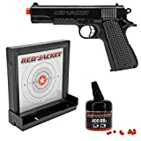airsoft gun starter kit - Red Jacket M1911 6mm Airsoft Spring Pistol Target Pack