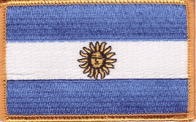 Argentina iron-on embroidered ()