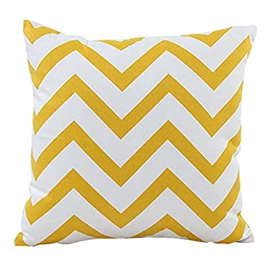 BETTERLIFE Home Bed Decorative Throw Pillow Case Cover Square Waved Stripe Yellow