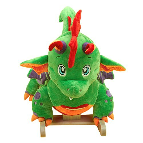 - Poof the Lil' Dragon Rocker, Cutest Baby Dragon Rocker, Green