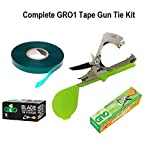 GROW1 Complete Plant Branch Tape Gun Kit - 5,000 Staples, 5 Rolls Tie Tape, 3pc Blades & Tape Gun