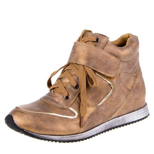 Damen Schuhe, 6188-2, FREIZEITSCHUHE Gold