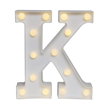 delicore led marquee letter lights alphabet light up sign for wedding home party bar decoration k - Marquee Letter Lights