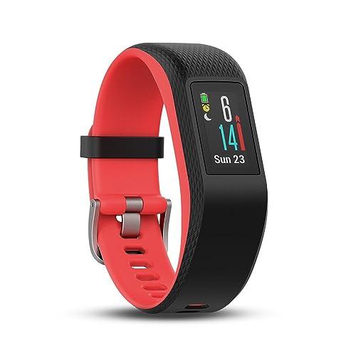 Garmin Vivosport Smart Activity Tracker with Wrist-Based Heart Rate and GPS - Pink (Fuchia), Small,010-01789-01