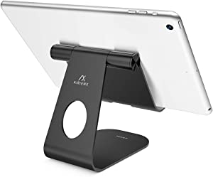 Adjustable Tablet Stand, AirienX Heavy Duty Desktop Stand Holder Dock Compatible with Tablets Such as iPad Pro 9.7, 10.5,12.9 Air Mini 4 3 2, Kindle Fire, Tab, E-Reader and More (4-13'') - Black