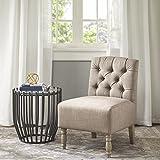 Lola Tufted Armless Chair Beige See Below