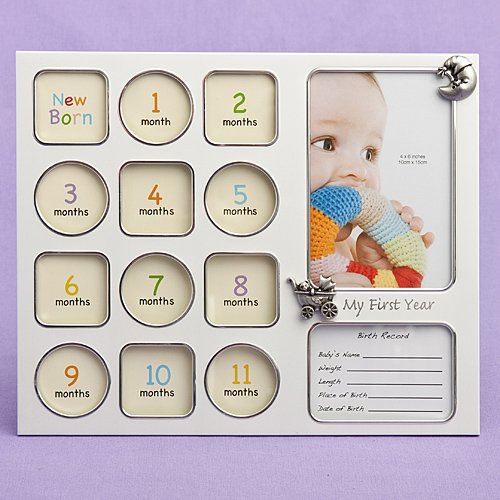 Fashioncraft My First Year Baby Photo Collage Frame by Fashioncraft