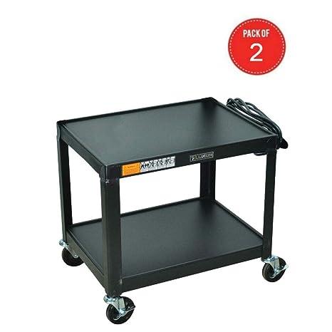 Amazon.com: Carro de metal negro Av. paquete de de 2: Office ...