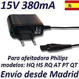 Cargador Corriente 15V Reemplazo Afeitadora Philips PT715 PT720 PT725 PT730 PT735 PT860 Recambio Replacement