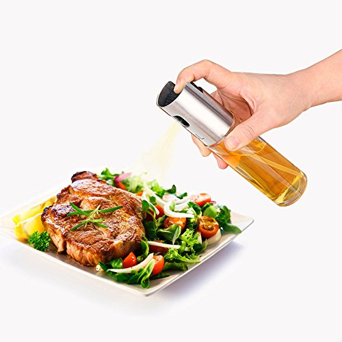 Oil Sprayers - Flight Olive Oil Sprayer Mister Oil Spray Bottle Transparent Glass Spray Bottle Vinegar Bottle Oil Dispenser for Barbeque Salard Cooking Baking Roasting Grilling Frying Kitchen