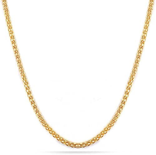 U7 Vintage Men Jewelry Stainless Steel Mesh Chain Necklace 6MM Gold//Silver Color