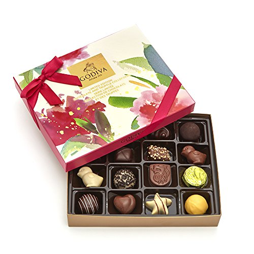 Godiva Chocolatier Assorted Gourmet Chocolate Spring Gift Box, 16 pc, Makes Great (Godiva Spring)