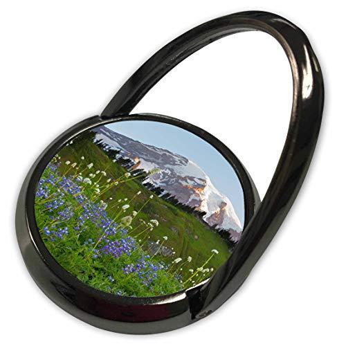 (3dRose Danita Delimont - Washington - Washington State, Mount Rainier and Wildflowers - Phone Ring (phr_315163_1))
