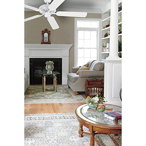 Westinghouse 7802400 Contractor's Choice 52-Inch Five-Blade Indoor Ceiling Fan, White with White Blades by Westinghouse (Image #3)