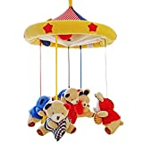 SHILOH Baby Crib Decoration Newborn Gift 60 tunes Plush Musical Mobile (Bear Family)