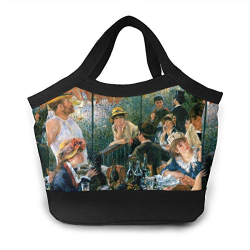 - Lunch Bag Tote Bag Luncheon Of The Boating Party 1881 Reusable Insulated Lunchbox With Zipper For Work School Picnic Beach