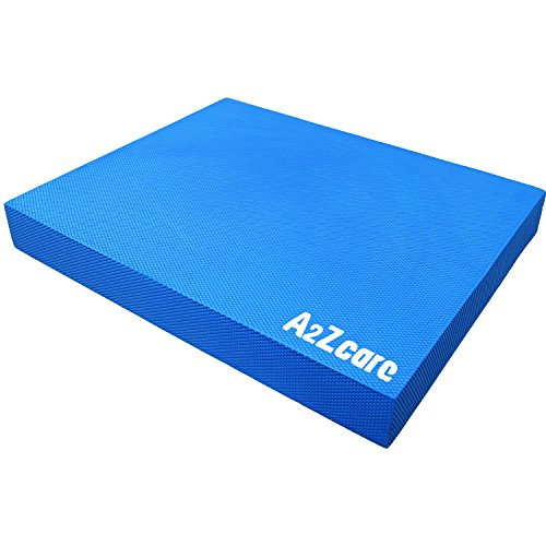 A2ZCARE Balance Pad - Supper Soft Pad Provides A Non-Slip Textured Surface (Guideline Included) (Blue (Large))