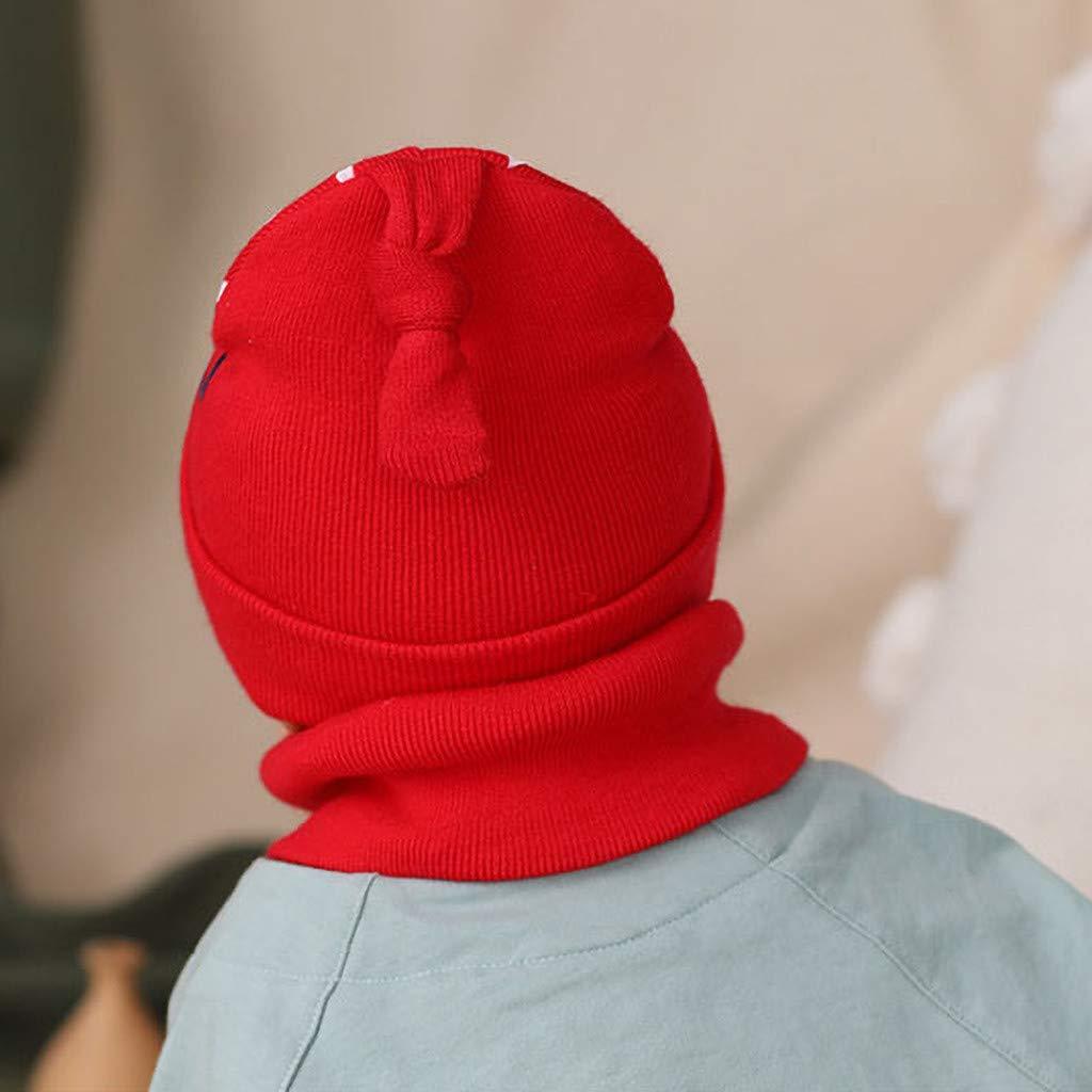 Arelead Cappello con Nodo Berretto Sciarpa Set Invernale Neonato Berretto Bambina Bambino Lana Lavorato A Maglia Carino Comfort Caldo Soffice Cappellino
