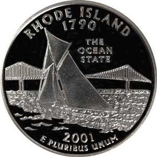 2001 Rhode Island S Gem Proof State Quarter US Coin